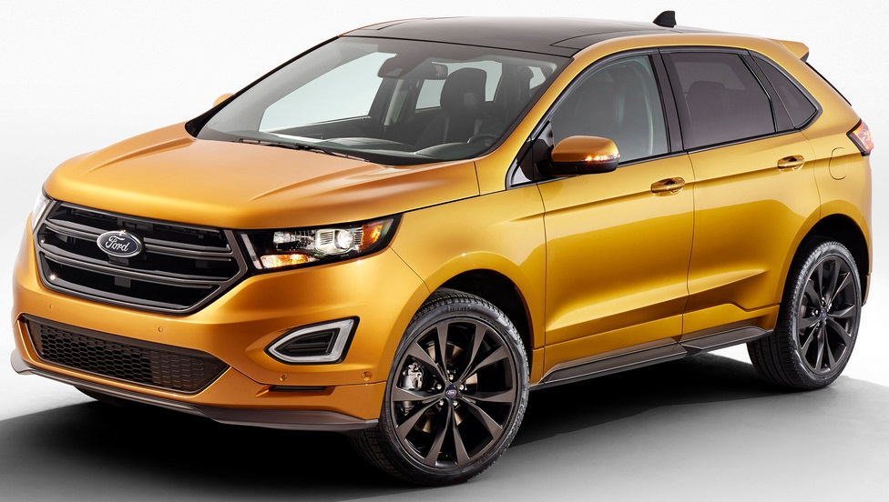 ford loads 2015 edge with driver assist technologies. Black Bedroom Furniture Sets. Home Design Ideas